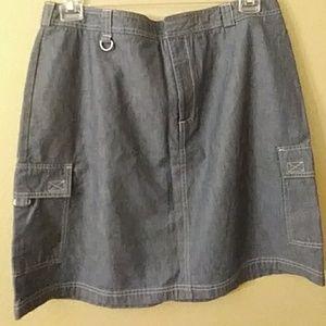 Dockers jean skirt